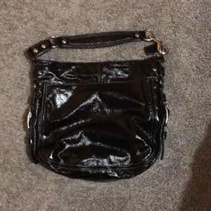 Coach patient leather hobo bag